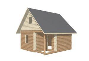проект сруба дома 6 на 6 с двускатной крышей (1)