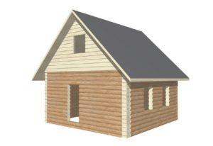 проект сруба дома 6 на 6 с двускатной крышей (2)