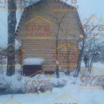 сруб дома 5 на 5 с верандой и ломанной крышей (3)