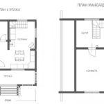 Проект сруба дома 5 на 5 с верандой