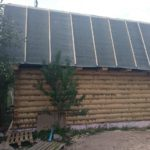 Сруб бани 4 на 7 метра с ломанной крышей