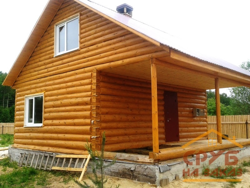 Сруб дома 8 на 8 метров