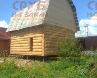 Сруб бани 4 на 5 с ломаной крышей