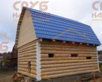 Сруб бани 5 на 6 с ломаной крышей