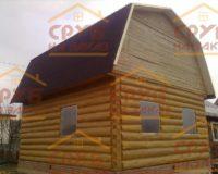 Сруб дома 5 на 5 с ломаной крышей