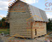 Сруб дома 3 на 5 с ломаной крышей